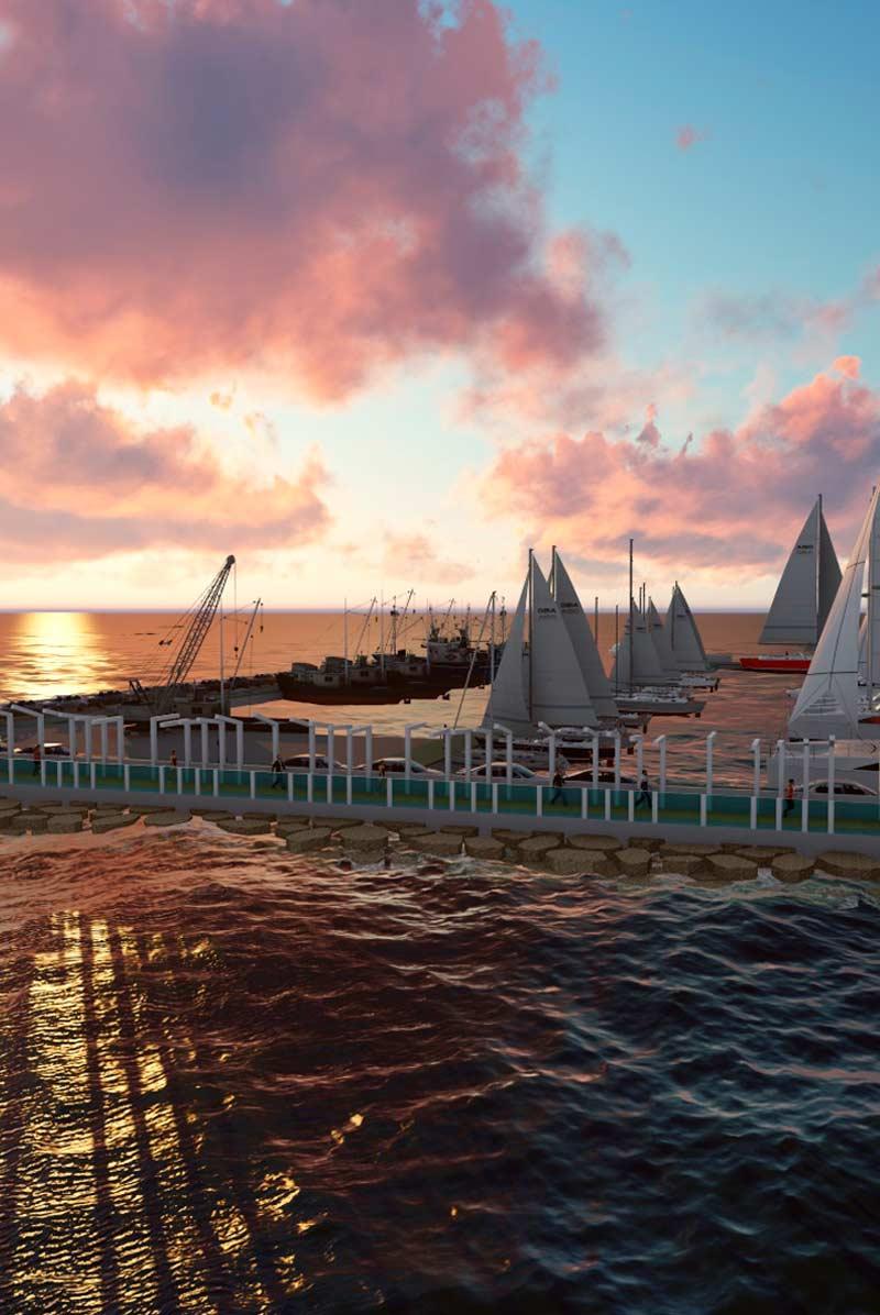 Puerto Deportivo. Portada de portfolio en PSM